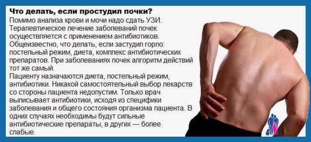 Что делать, если застудил почки: первые симптомы и лечение