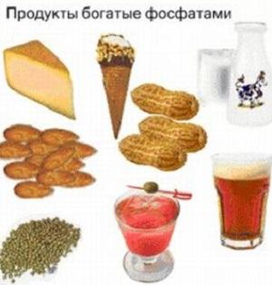 пища с фостфатами