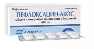 пефлоксацин акос