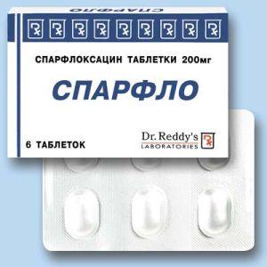 Таблетки спарфлоксацин