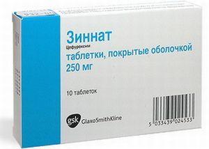 Таблетки Зиннат